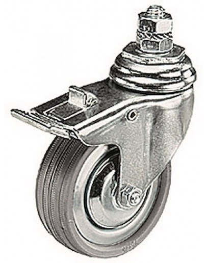 Комплект коліс 75 мм з гальмом