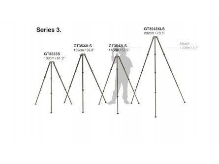 Gitzo Systematic штатив, 3 серія, 3 секції
