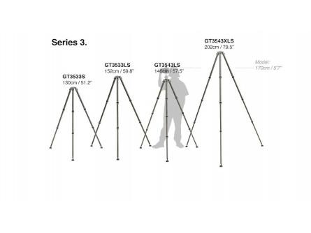 Gitzo Systematic штатив, 3 long серія, 4 секції