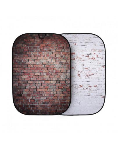 Urban фон складаний 1.5x2.1 Classic Red / Distressd White Brick