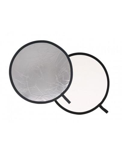 Відбивач складаний, 50 см, Silver / White