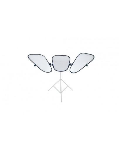 Triflector MKII 3 відбивача Silver / White + рама