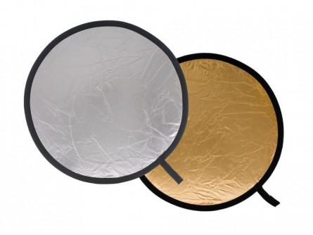 Відбивач складаний, 95см, Silver / Gold