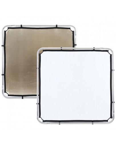 Відбивач Skylite Rapid Fabric S 1.1x1.1м золотистий / білий