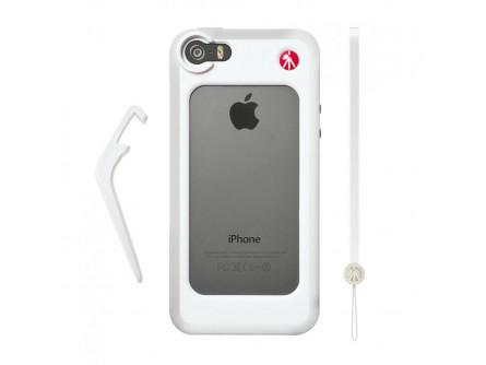 Білий бампер для iPhone 5 / 5S + опора + ремінець на зап'ясті