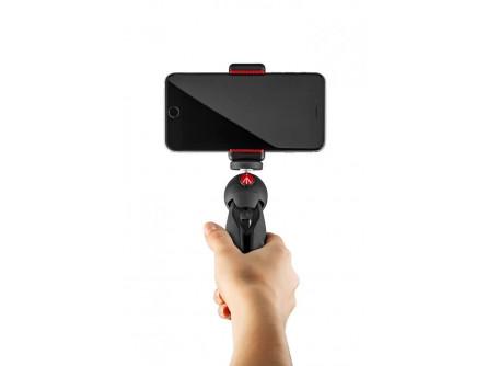 Міні-штатив, чорний, з універсальним затиском для смартфона