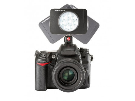 LED світильник Lumimuse з 8 світлодіодами і аксесуари., Чорний