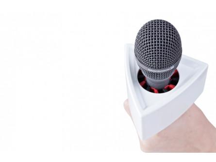 Трикутний білий мікрофон прапор